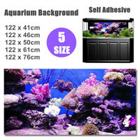 Coral HD Aquarium Background Poster Fish Tank Decoration Landscape A