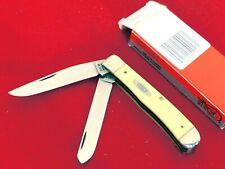 Case XX USA  2 Blade 3254 CV Yellow 2 Blade 4-1/8 Trapper Knife MINT/BOX ld