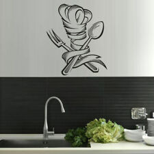 Wall Vinyl Sticker Kitchen Decal Spoon Fork Spaghetti Retro Noodles (Z1545)