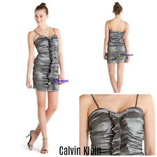 Calvin Klein Strapless Ruched Pin Up Girl Prom Formal Party Dress NWT $175 12