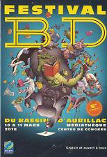 PROGRAMME COMPLET - 5. FESTIVAL BD AURILLAC 2018 - BROCHURE TBE