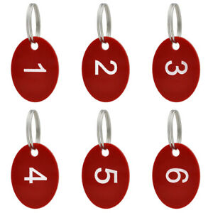 Aspire 50PCS Numbered 1-50, Key Ring Acrylic Hangers Tag For Organizing &Sorting