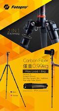 Fotopro X-4CN Carbon Fiber Adjustable Professional Camera Tripod Stand+Ball Head