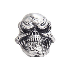 Grins Skull Pewter Paracord Pull tactical edc bead NEW