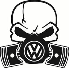 Skull Piston gas mask Decal Sticker Car VW VDUB JDM Drift Hoon Turbo Stance