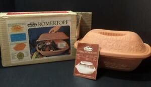 Original Romertopf Terra Cotta Clay Roaster #111 w/ Original Box