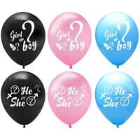Gender Reveal He or She boy or girl Balloon Baby Shower Favours Party Decoration