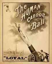 Circus Human Canon Ball 1879 A4 Photo Print