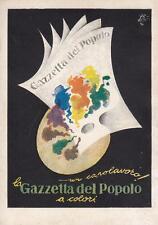 """A9167) GIORNALE """"LA GAZZETTA DEL POPOLO A COLORI"""". ILLUSTRATORE GARRETTO."""