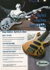 1999 VINTAGE 8X11 Print Ad for Ibanez BTB Bass guitar SYSTEM OF A DOWN SOAD