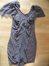SUPERTRASH schönes Jerseykleid mauve m. Flatterärmeln Gr. M  NEUw.  ZC516