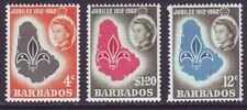Barbados 1962 SC 254-256 MNH Set Scout