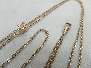 Antique Victorian Watch Chain Slide Necklace Seed Pearl & Opal Gold Filled NICE!