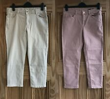 1cc18ca3f16 Marks   Spencer M S NEW Pink Beige Cropped Capri Jeans Trousers Plus Size  ...