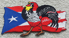 PUERTO RICO ROOSTER FLAG PATCH Cloth Badge Biker Jacket United States of America