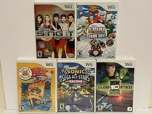 5 Brand New Sealed NTSC-US Wii Games - Will Not Play In Oz SONIC BEN10