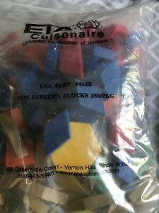 ETA Hand2mind #4414B Pattern Blocks Set 250 Package 1 CM Manipulatives