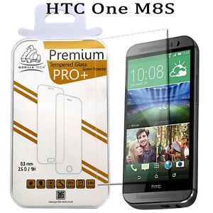 100% Genuino Gorilla Protector de Pantalla Cristal Templado Para HTC One M8