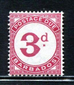 Barbados 1937 Postage Due 3 d carmine MH aXF SG#D3