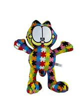 Garfield Autism Awareness Plush Puzzle Cat Stuffed Animal By Toy Factory Clean!