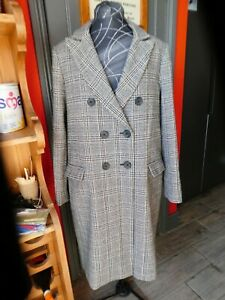 New Look Long Check Coat S14, very good condition, perfect, classic.