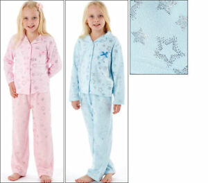 Girls To The Moon And Back Revere Collar Pyjama Set 100% Polyster Foil Print