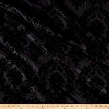 Black Taffetta Fabric, Damask Fabric Flocked Fabric, Taffetta Fabric By The Yard