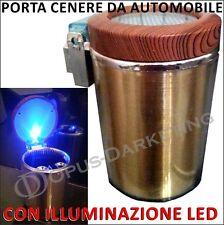 Porta cenere Ceneriera ORO Cilindro 6,5x10cm auto a LED per FIAT GRANDE punto