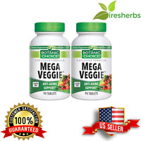#1 BEST ANTI-AGING (18 VEGETABLE) 900MG CELERY KALE BEET ROOT SUPPLEMENT 180 TAB