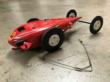Vintage Gas Tether Car Original McCoy Red TEARDROP Powered Race Car