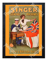 Historic Singer Sewing Machines Advertising Postcard