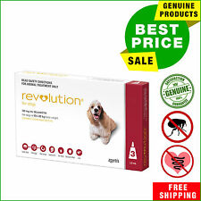 Revolution Flea Heartworm treatment for dogs 3 Pipettes 10.1 to 20 Kg Red Pack