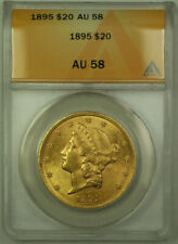 1895 Liberty Double Eagle $20 Gold Coin ANACS AU-58