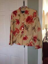 DANA BUCHMAN 12 jacket blazer floral silk linen Yellow Floral pink Red green