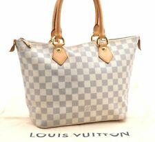 Authentic Louis Vuitton Damier Azur Saleya PM Shoulder Tote Bag N51186 LV A3582