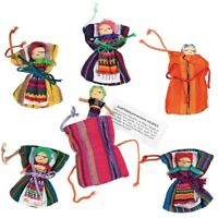 Single Worry Doll Dolls Printed Story Textile Bag Made In Guatemala Fair Trade
