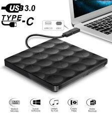 USB 3.0 Externes DVD/CD-ROM Drive Laufwerk Brenner Player Type-C für Laptop Neu