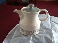 "Vintage Biltons  Pink & Grey Tea Pot 6"" Made In England"