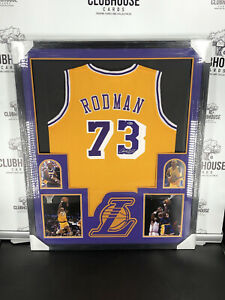 Dennis Rodman Autographed Signed & Framed Los Angeles Lakers Jersey Auto Beckett