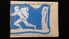 St. George and the Dragon Puppet Play 1936 Christmas Card from Paul McPharlin