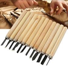 12pcs Wood Carving Hand Chisel Tool Set Woodworking Professional Gouges