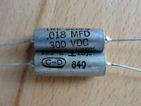 22 Vintage Cornell Dubilier 0.018uF Guitar PIO Capacitor Cap 300VDC +/-10% NOS