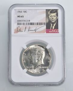 MS65 1966 - Kennedy Half Dollar Silver Graded NGC *445