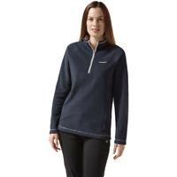 Craghoppers Womens Miska Half Zip Fleece Top - Navy Blue Sports Outdoors Warm