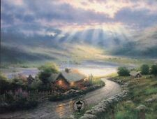 Emerald Isle Cottage -- Ireland, Art Card, Sun -- Thomas Kinkade Dealer Postcard