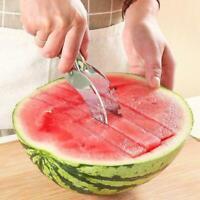 Edelstahl Wassermelonenschneider Divider Melon Scoop Tools Fruit W5F4