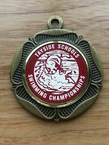 Vintage Metal Swimming Medal - Tayside Schools Swimming Championships