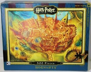 NEW YORK PUZZLE COMPANY HARRY POTTER HOGWARTS 500 PIECE PUZZLE USA  VG COMPLETE