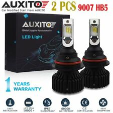 2 PC AUXITO 9007 LED Headlight Bulbs Hi/Lo Beam For Dodge Ram 1500 2500 3500 EOA
