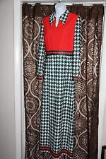 Vtg Puritan Forever Young Mod 60s 70s Maxi Dress Polyester Hippie  B5